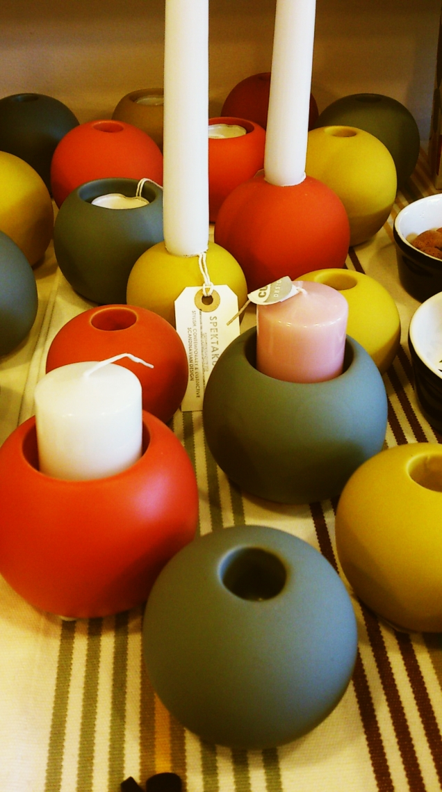 Colourful Rob tealight and candleholders