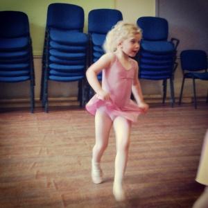 Stina at her Ballet