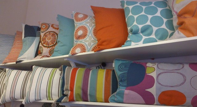 Lovely bright cushions