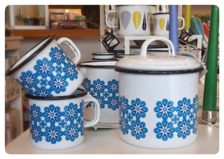 Blue Flower Mug, Pot and Jug