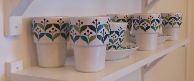 Sagaform Retro Coffee cups (set of 2) and Teacup & Saucer
